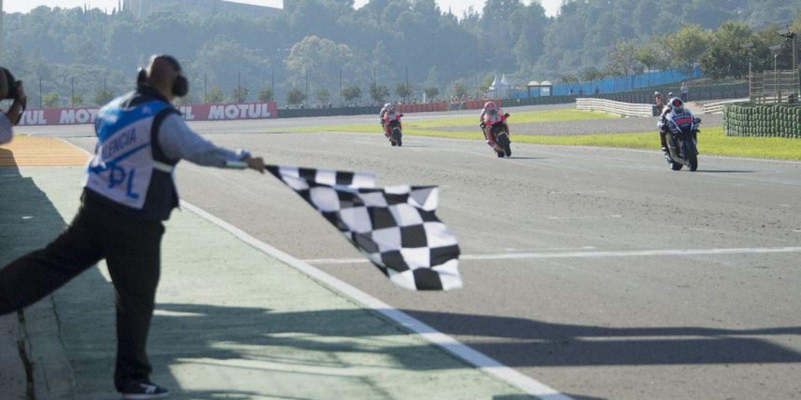 Jorge Lorenzo se corona en el Moto GP Foto:Getty Images