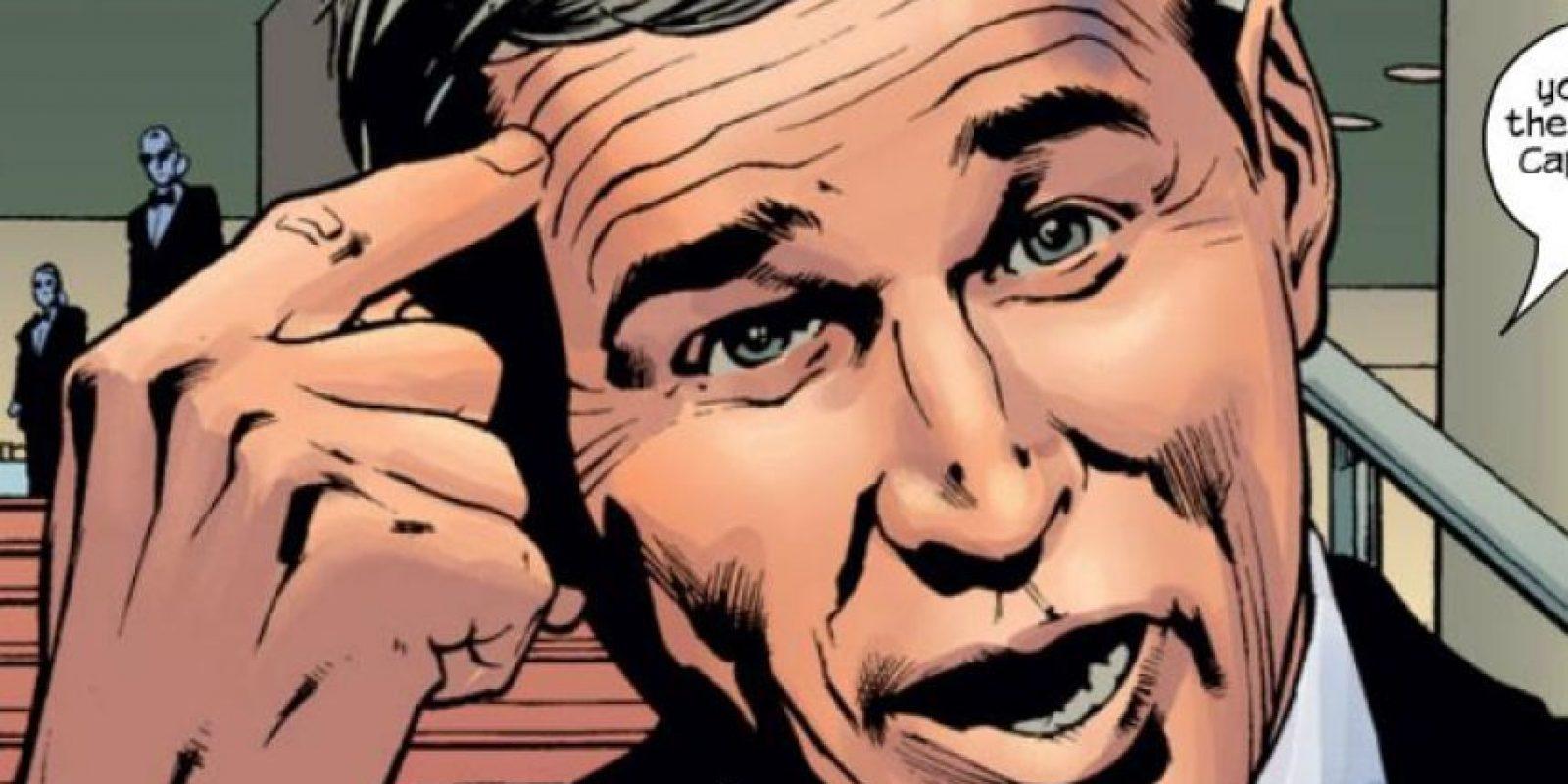 George Bush, expresidente de Estados Unidos, también aparece en varios cómics de Marvel. Foto:vía Marvel Cómics