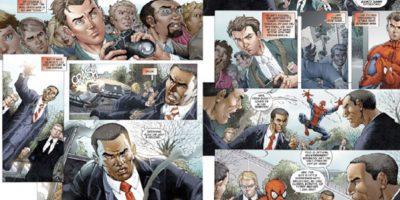 """""""Spiderman"""" salva a Obama de ser suplantado por un impostor, """"El Camaleón"""". Foto:vía Marvel Cómics"""