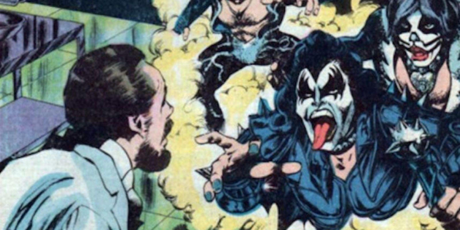 Kiss apareció en los años 70 en un cómic, en Marvel. Foto:vía Marvel Cómics