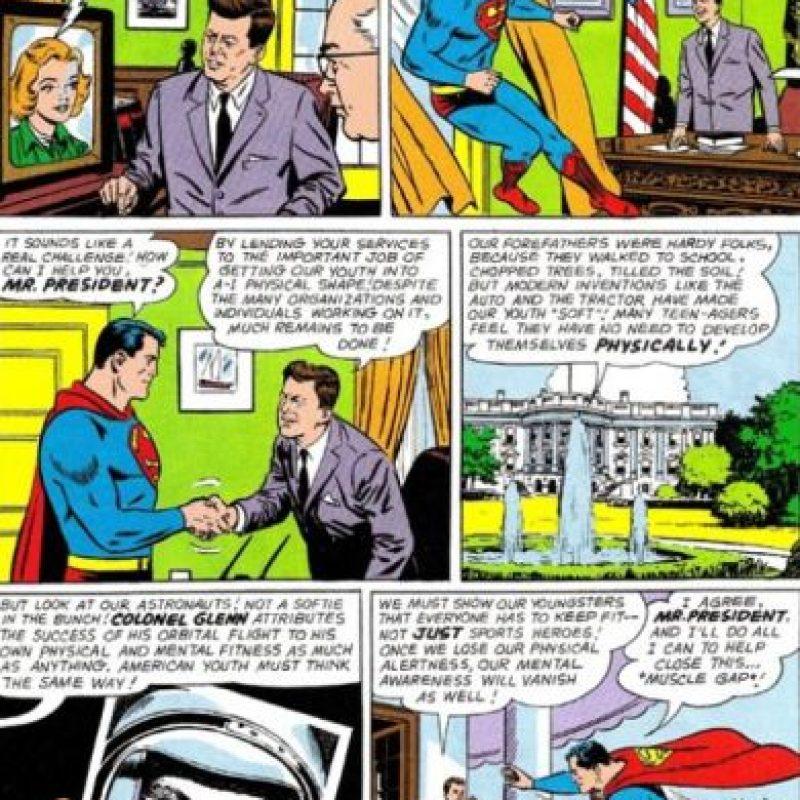 El cómic salió en 1964, cuando Kennedy ya había muerto. Foto:vía DC Cómics