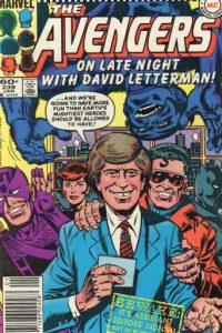 """David Letterman llegó a protagonizar un cómic con """"Los Vengadores"""" (sí, los de Marvel) en los años 80. Foto:vía Marvel Cómics"""