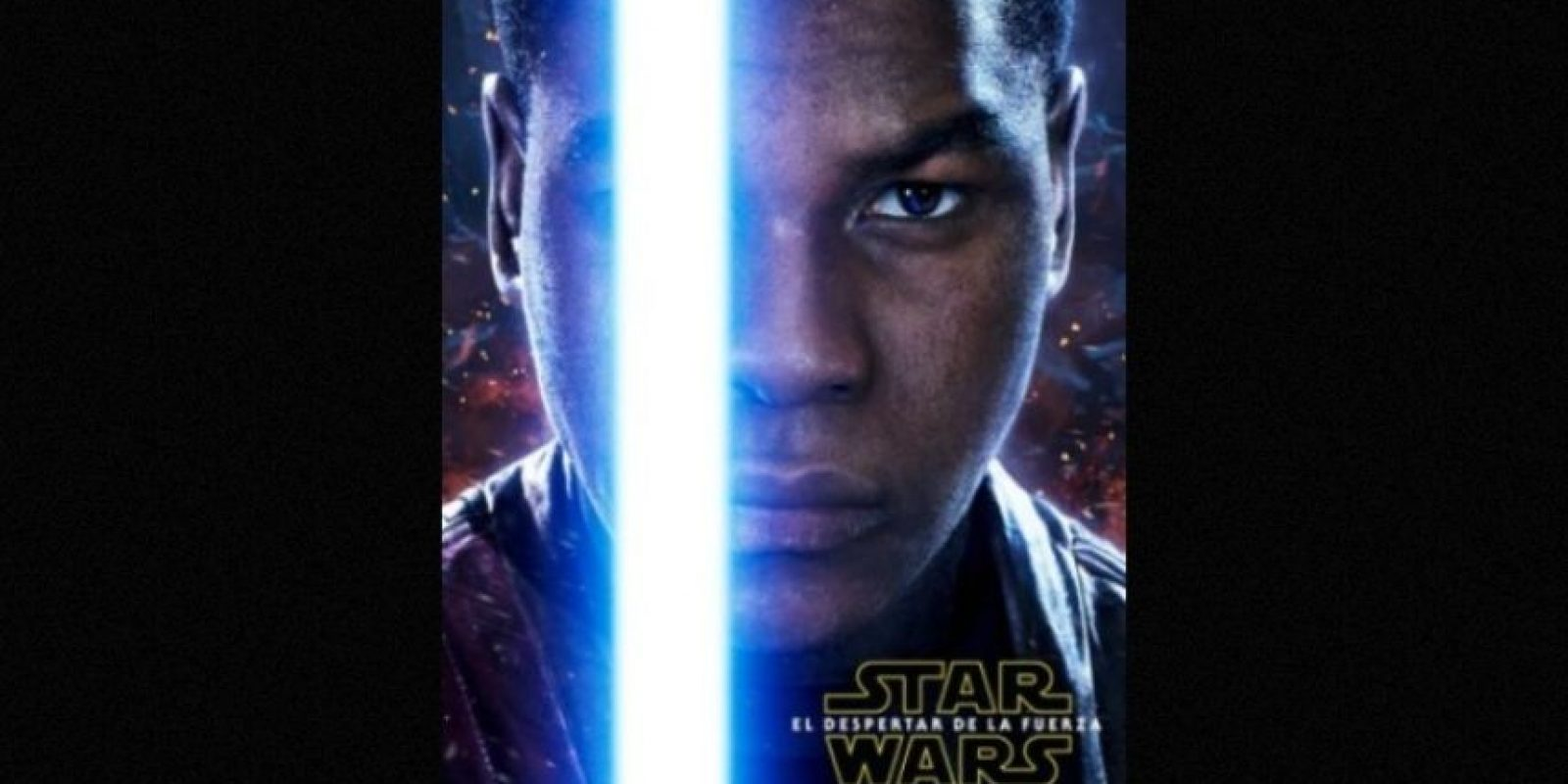 "John Boyega como ""Finn"" en nuevo póster de ""Star Wars: The Force Awakens"". Foto:Facebook/StarWars.LATAM"