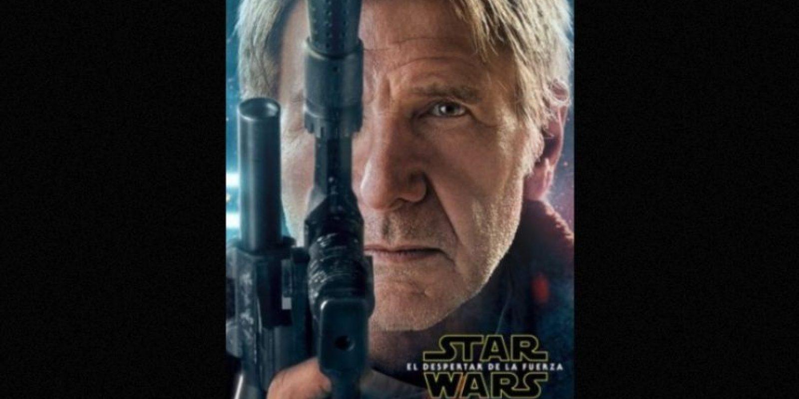 "Harrison Ford como ""Han Solo"" en nuevo póster de ""Star Wars: The Force Awakens"". Foto:Facebook/StarWars.LATAM"