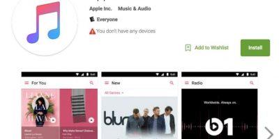 Apple Music ya disponible en Android. Foto:Google