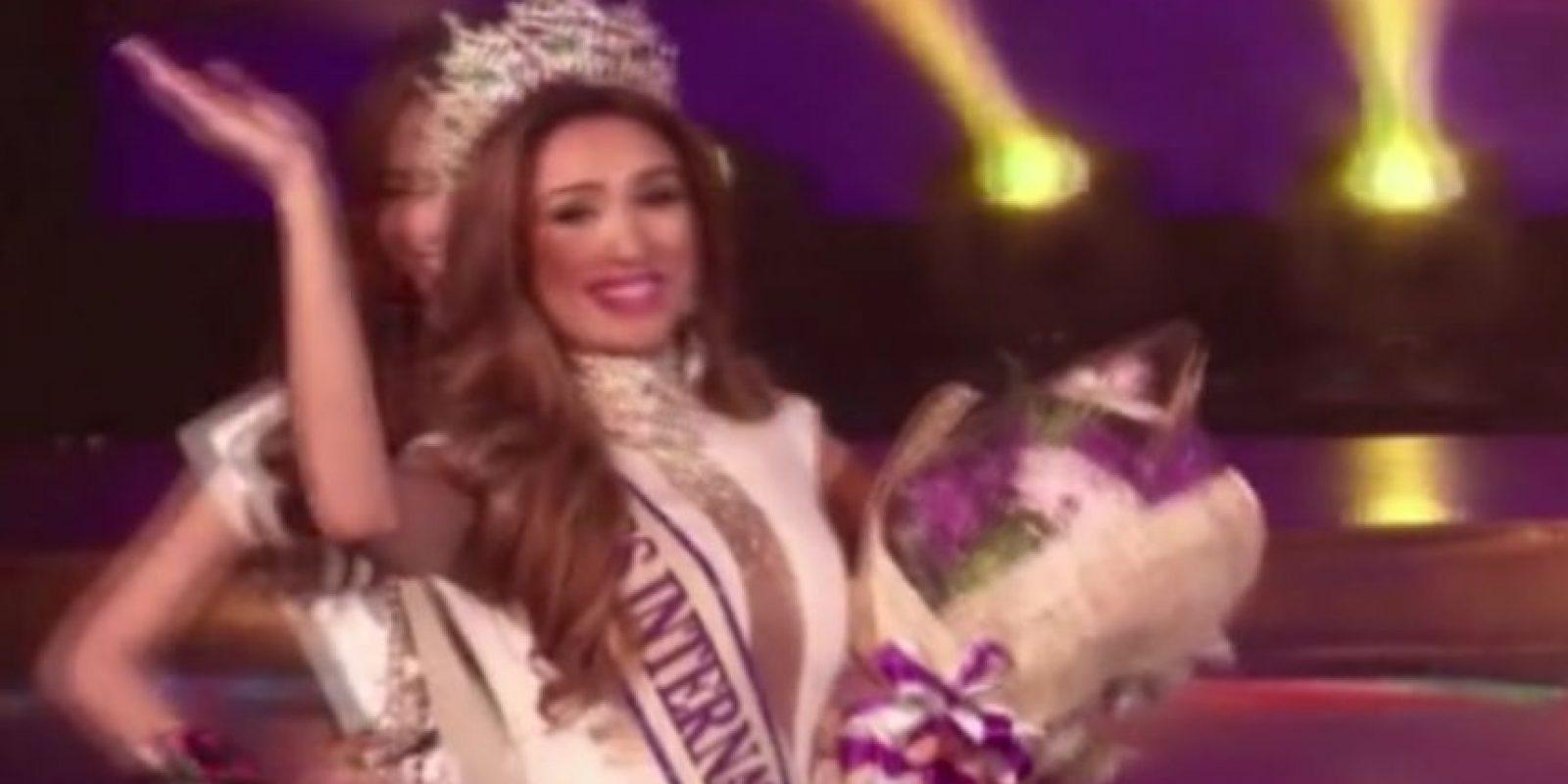 """Se llevó el primer premio de la edición de 2014 de """"Miss International Queen"""", que se realizó en Tailandia"""