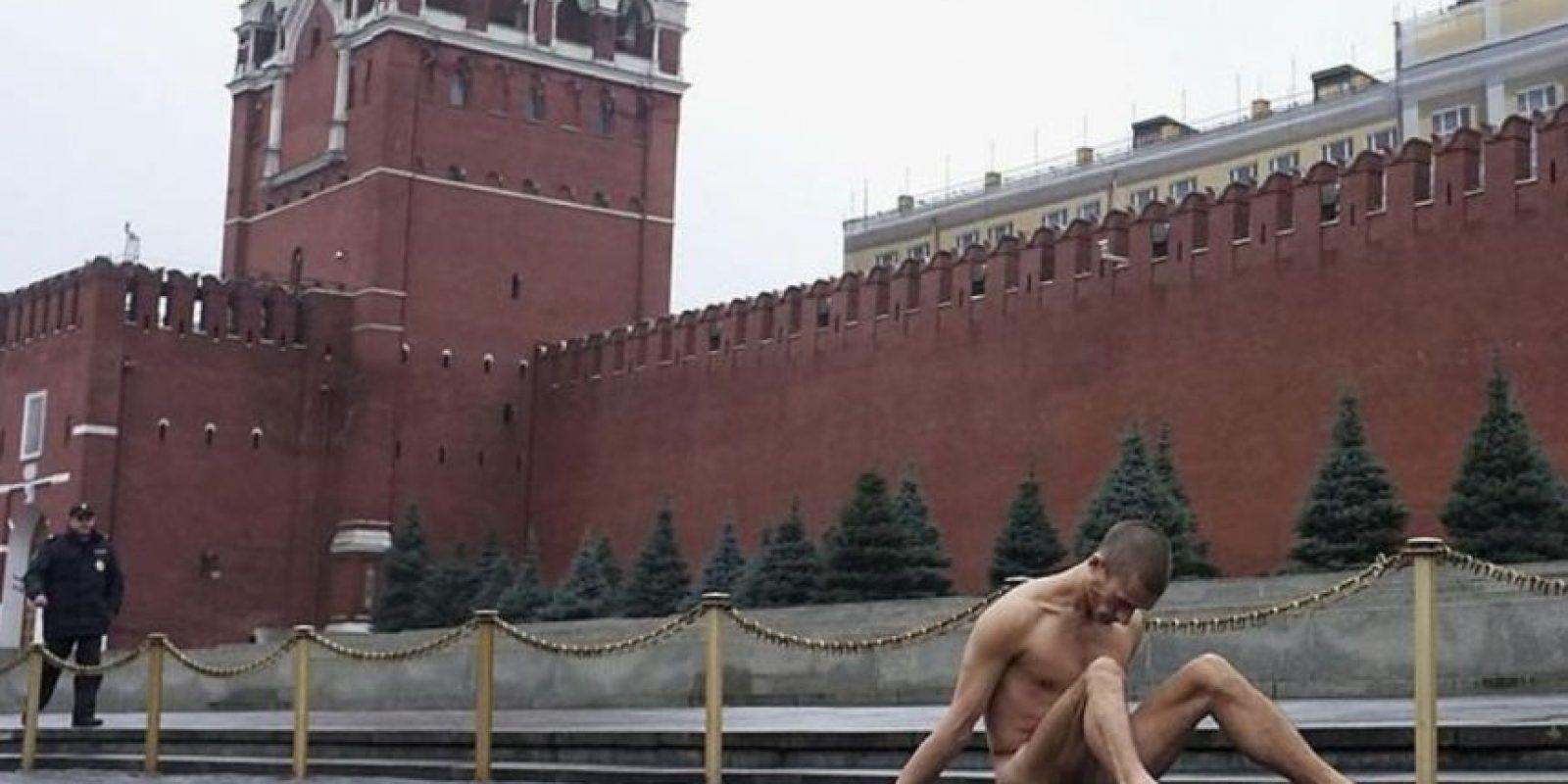 Todo depende de lo que se le acuse. Foto:Vía facebook.com/Petr-Pavlensky