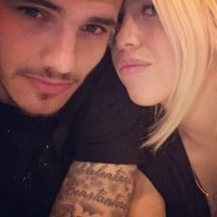 Icardi, de entonces 20 años, conoció a la modelo porque compartía vestuario con López en la Sampdoria de Italia. Foto:Vía instagram.com/wanditanara