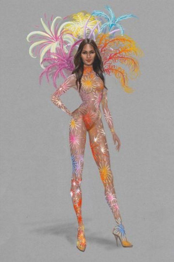 Uno de ellos es esta pieza inspirada en fuegos pirotécnicos. Foto:Victoria's Secret