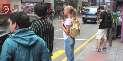 """La modelo utilizó unos """"pantalones pintados para salir a la calle"""" Foto:YouTube.com/VIPRoom"""