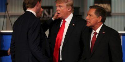 Donald Trump se reafirmó en sus posturas de inmigración y del salario mínimo. Foto:Getty Images
