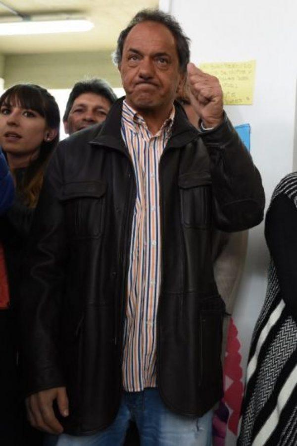 Descartaron haber manipulado las encuestas a favor del candidato Daniel Scioli. Foto:AFP
