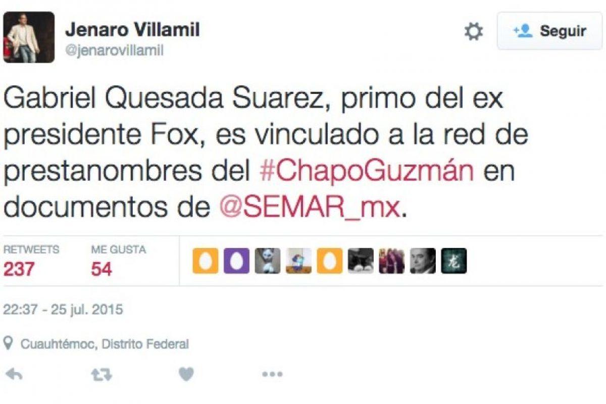 Foto:Twitter.com/JenaroVillamil – Periodista mexicano