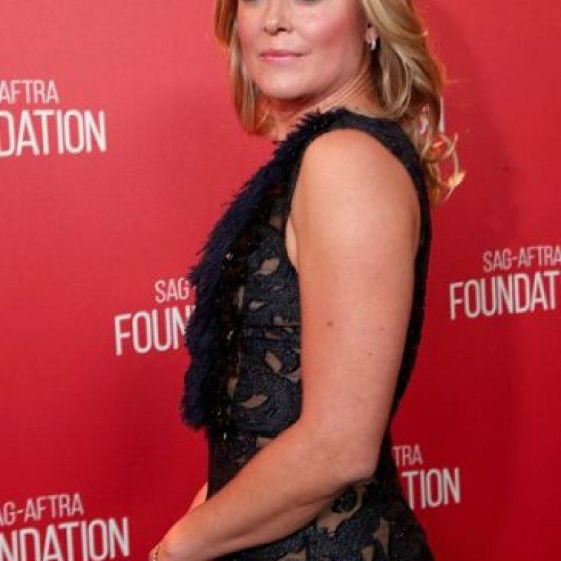 La actriz Elisabeth Rohm cayó al suelo en la fiesta de los premios Oscar en 2014. Foto:Getty Images