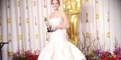 """En 2013, la intérprete de """"Katniss"""" protagonizó la caída más famosa. Foto:Getty Images"""