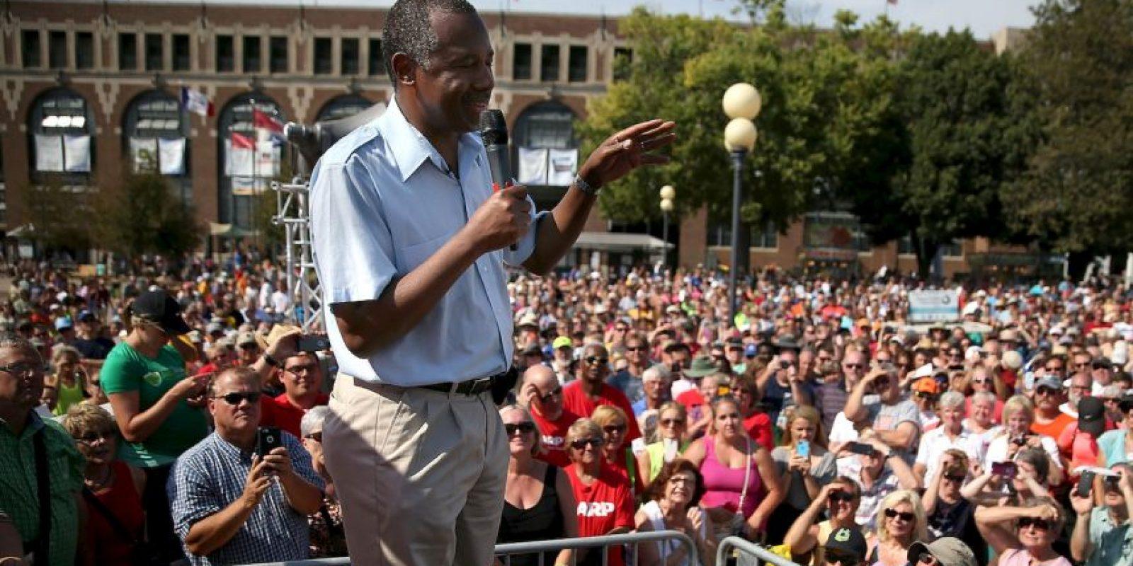 """Sobre el terrorismo, Carson sostuvo: """"Nuestro objetivo no es contener a los terroristas en Oriente Medio, sino destrozarlos para que no nos destruyan"""". Foto:Getty Images"""