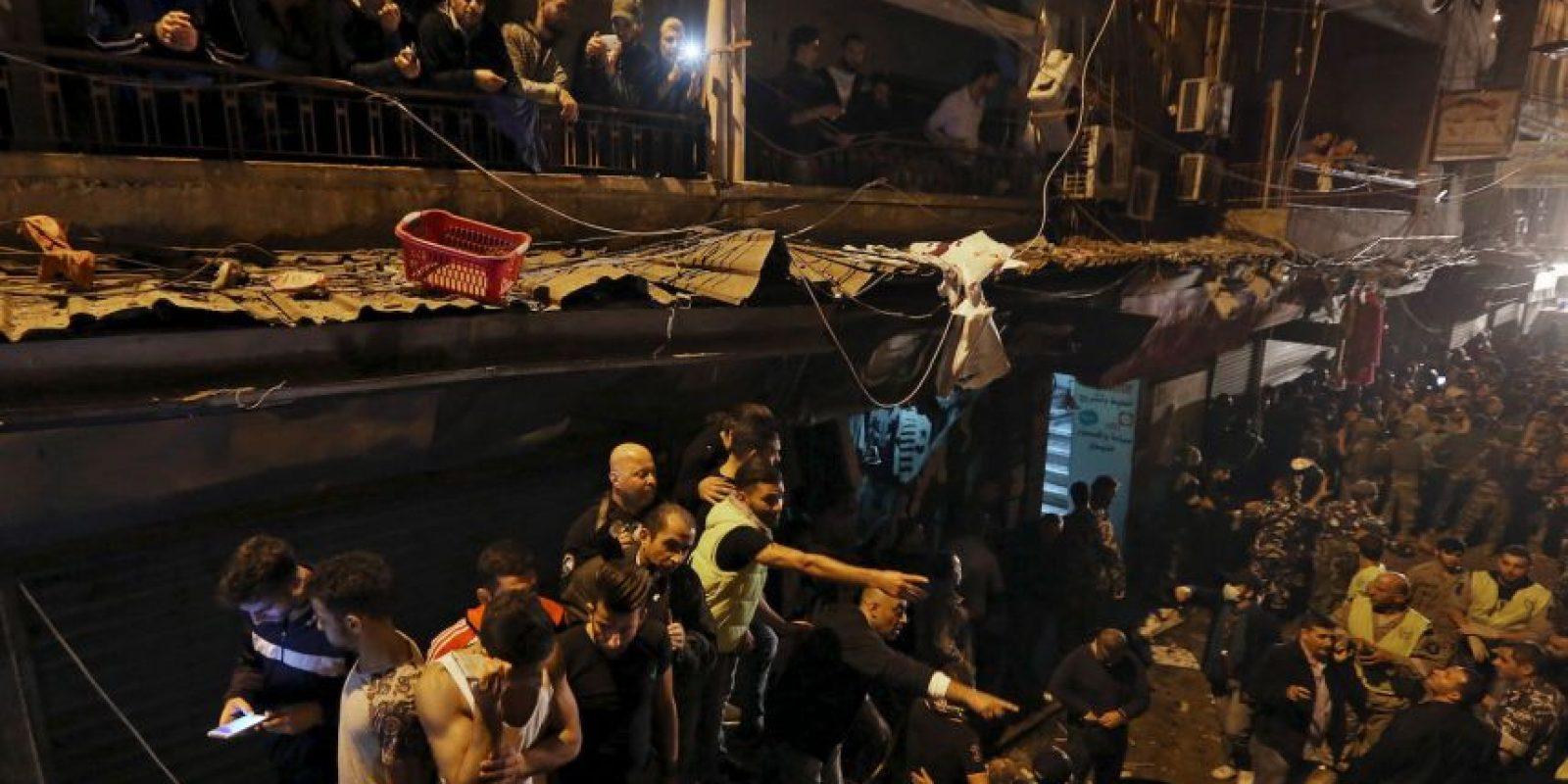 Todo ocurrió en un barrio de Beirut, Líbano. Foto:AP