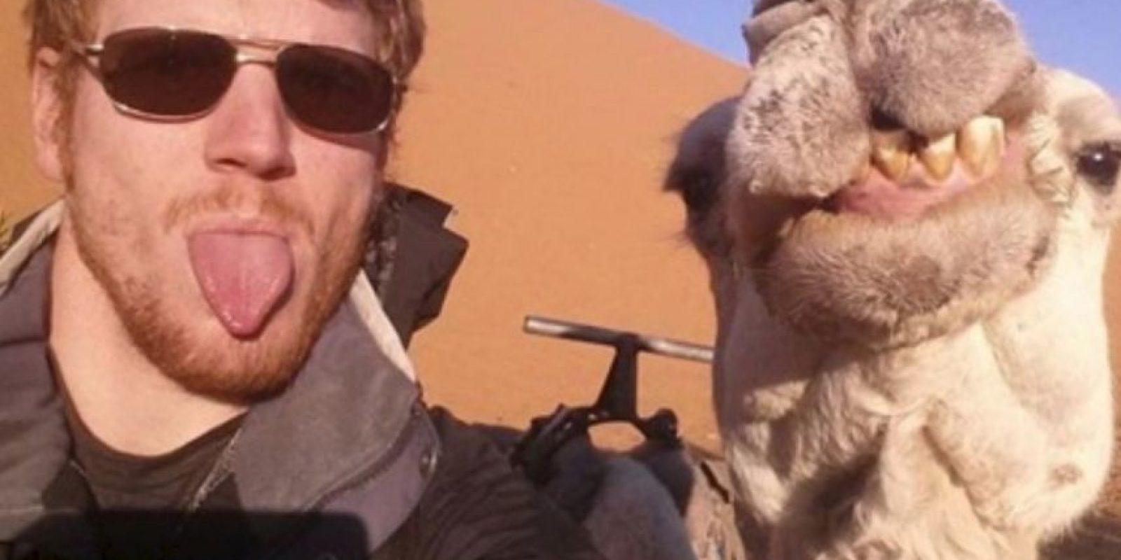 Con un camello amigable. Foto:Instagram