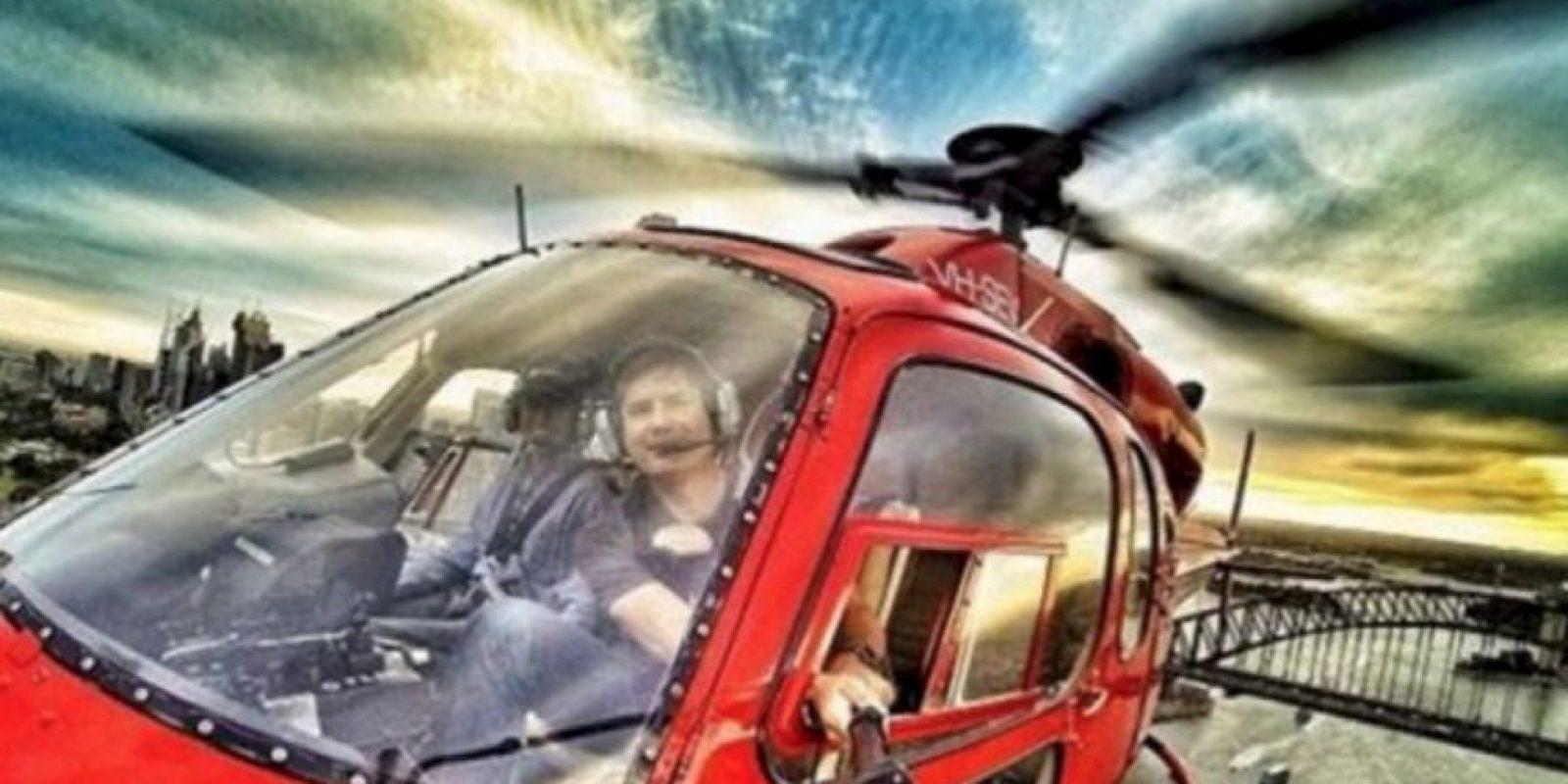En el helicóptero. Foto:Brewed.nl