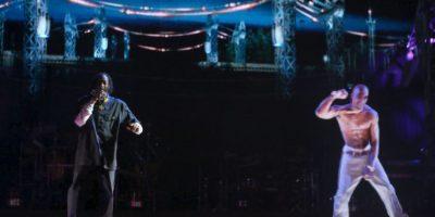 En 2012, un holograma de Tupac Shankur fue presentado en el Festival de Coachella Foto:Getty Images