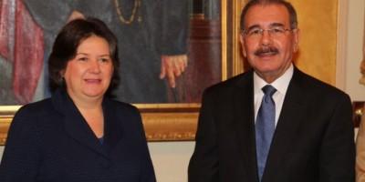 El presidente Danilo Medina recibe a la subsecretaria general de la ONU
