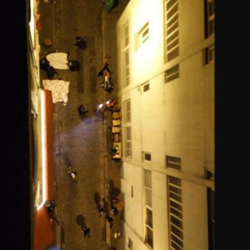 Así se veían las calles parisinas luego del tiroteo. Foto:vía Twitter