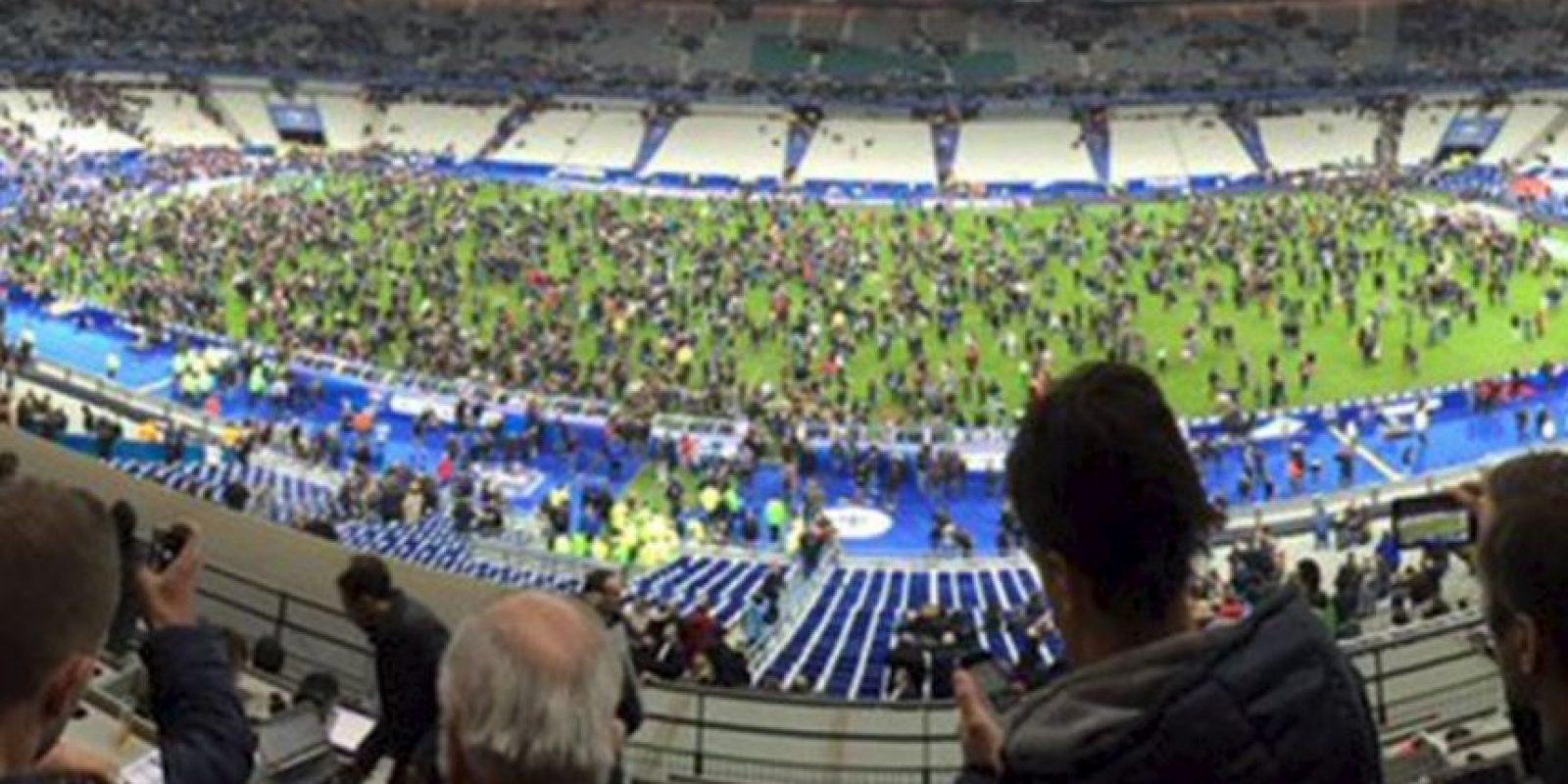 El partido entre Francia y Alemania terminó así. Foto:vía Twitter/@ImiaSanMia