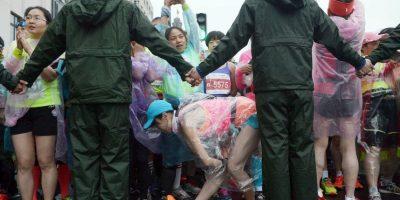 Corredoras en el Maratón Internacional de Shangai. Foto:AFP