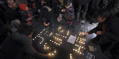 Las muestras de solidaridad se vieron en todas partes del mundo. Foto:AFP