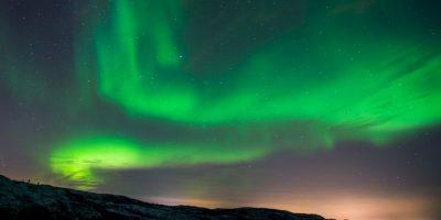 Aurora boreal en Noruega. Foto:AFP