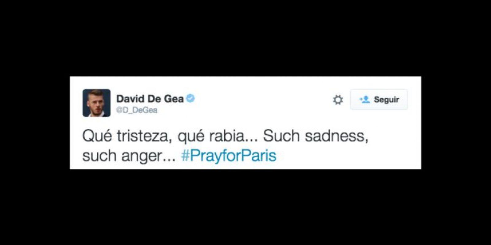 David de Gea: Qué tristeza, qué rabia. Foto:Vía twitter.com/D_DeGea