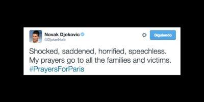 Novak Djokovic: Estoy impactado, entristecido, horrorizado, sin palabras. Mis oraciones están con todas las víctimas y sus familias. Foto:Vía twitter.com/djokernole