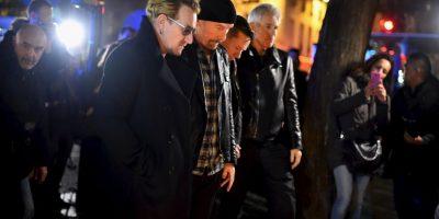 Bono y los integrantes de U2, acudieron al salón Bataclán, donde murieron más de 100 personas. Foto:Getty Images