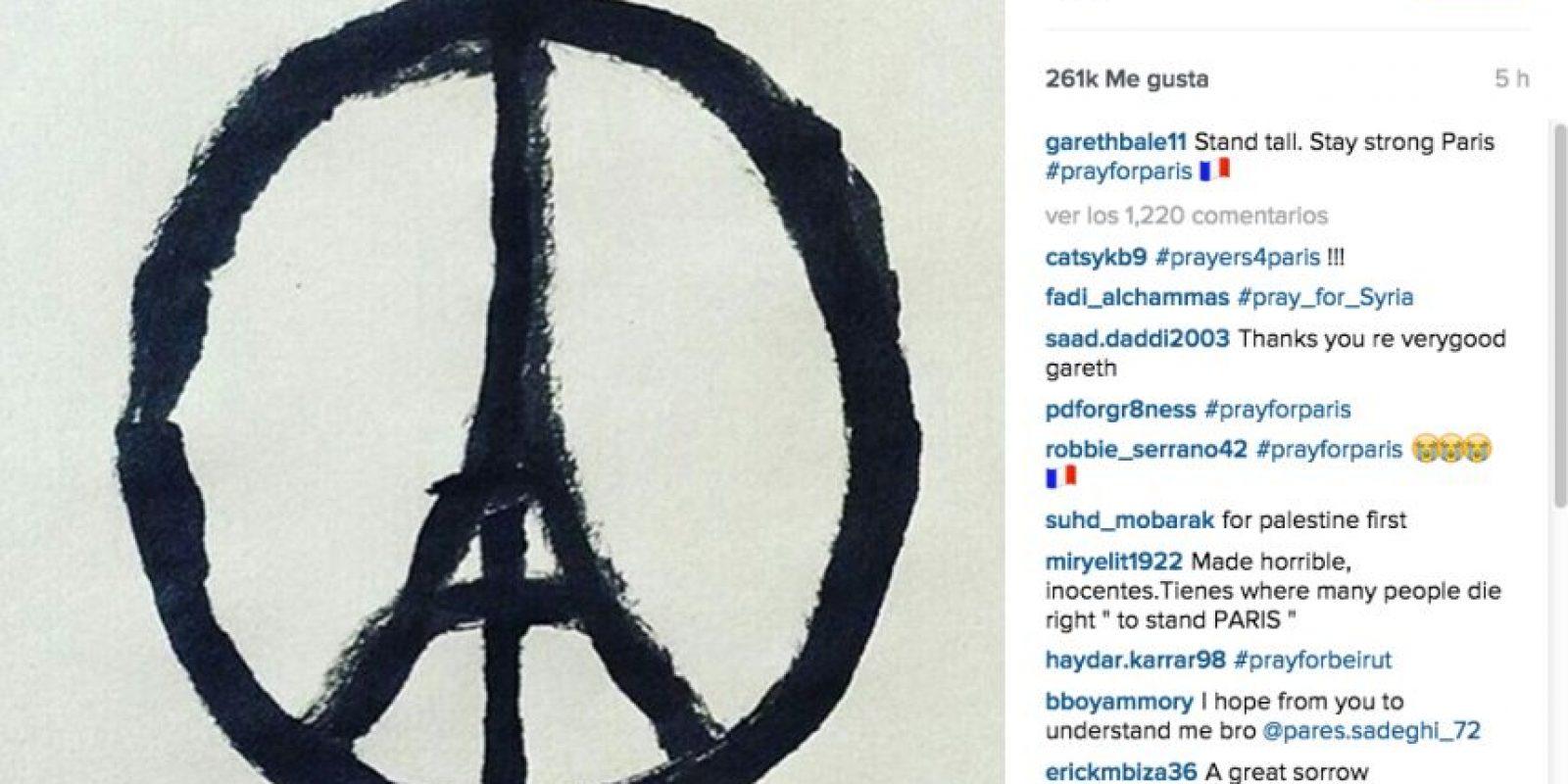Gareth Bale: Ponte de pie. Mantente fuerte, París. Foto:Vía instagram.com/garethbale11