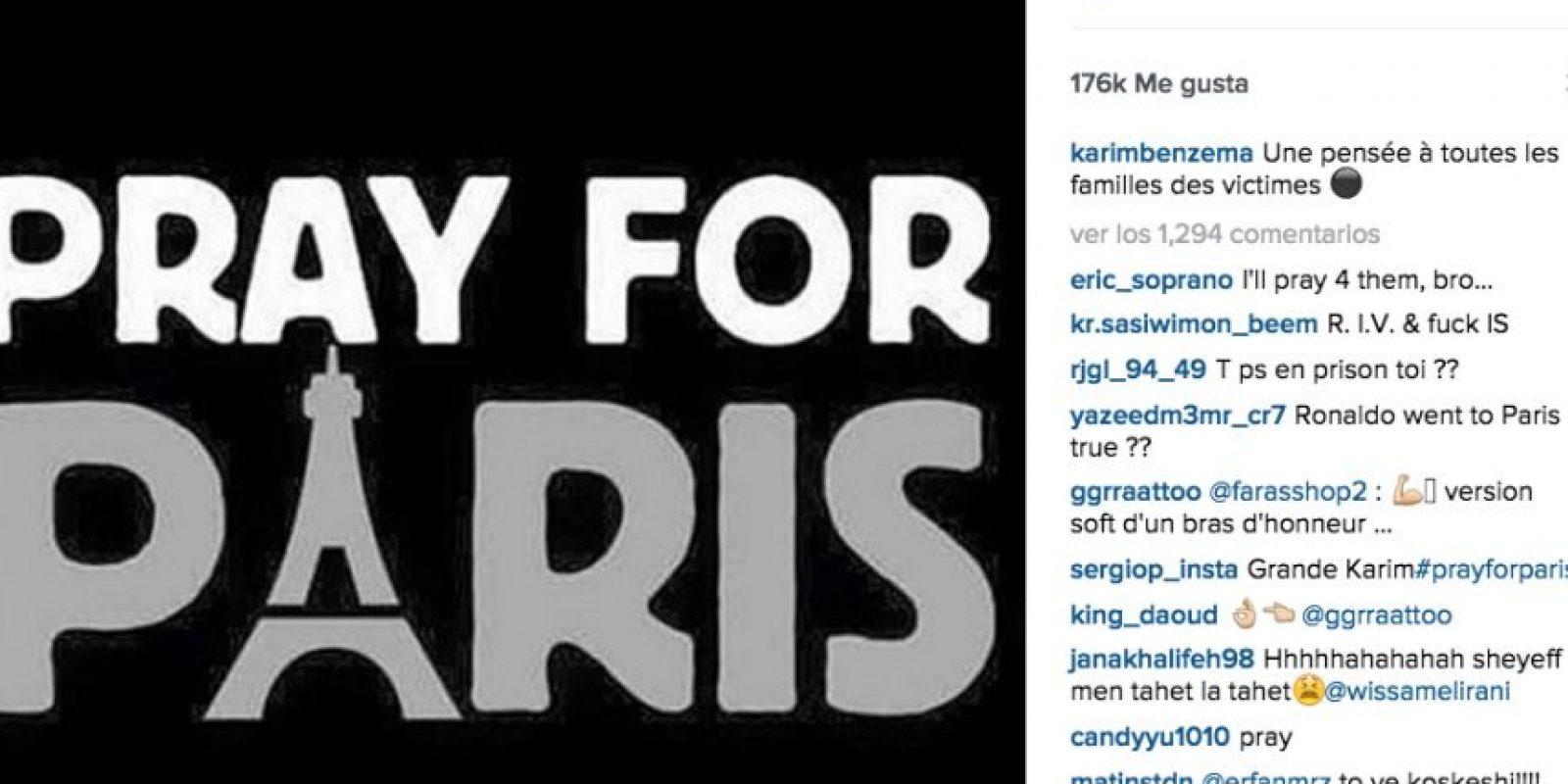 Karim Benzema: Un pensamiento para todos los familiares de las víctimas. Foto:Vía instagram.com/karimbenzema
