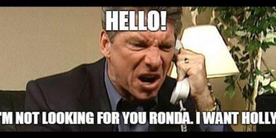 Hola. No te hablo a ti Ronda, quiero a Holly. Foto:Vía facebook.com/MemesMMA