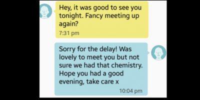 Él dijo que si se reunían. Ella le dijo que no tenían química. Foto:vía Tumblr
