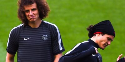 David Luiz y Edinson Cavani juegan en el PSG de París. Foto: Getty Images