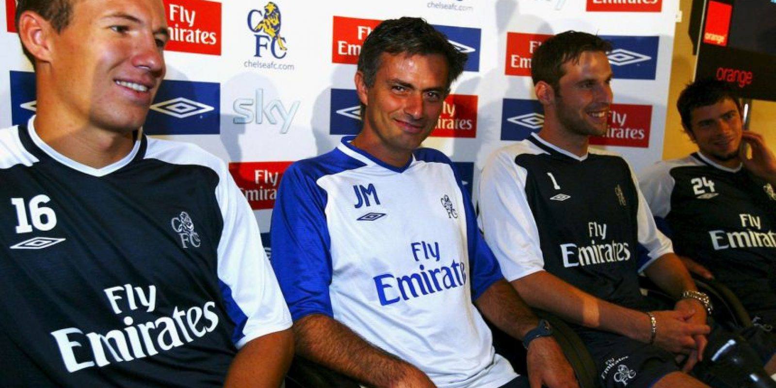 Mourinho completó tres años como entrenador por primera vez al frente del Chelsea. Foto:Getty Images