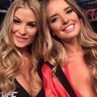 Holly Holm y Ronda Rousey no fueron las únicas reinas de UFC 193. Foto:Vía instagram.com/kahiliblundell