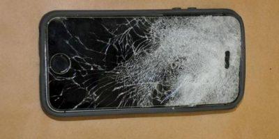 El joven se salvó gracias a su iPhone. Foto:Fresno Police Departament