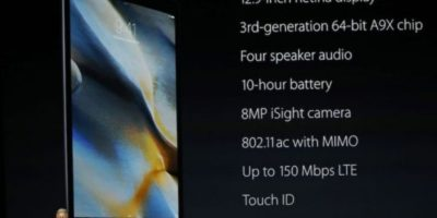 Características de la iPad Pro. Foto:Getty Images