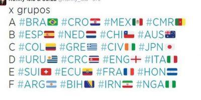 Hubo banderas de los 32 países participantes. Foto:vía Twitter.com