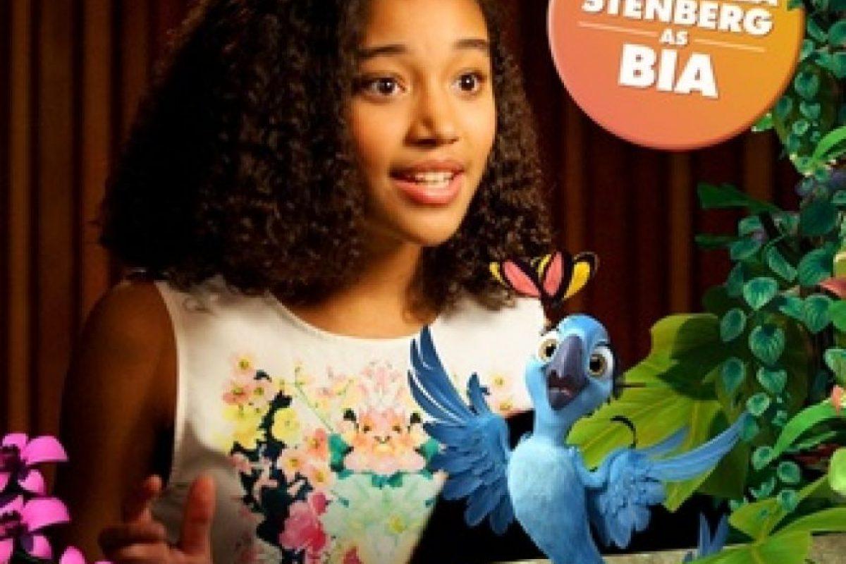 """En 2014, le dio vida a """"Bia"""", la hija menor de los guacamayos """"Blue"""" y """"Perla"""" de la cinta """"Rio 2"""" Foto:amandlastenberg.com"""