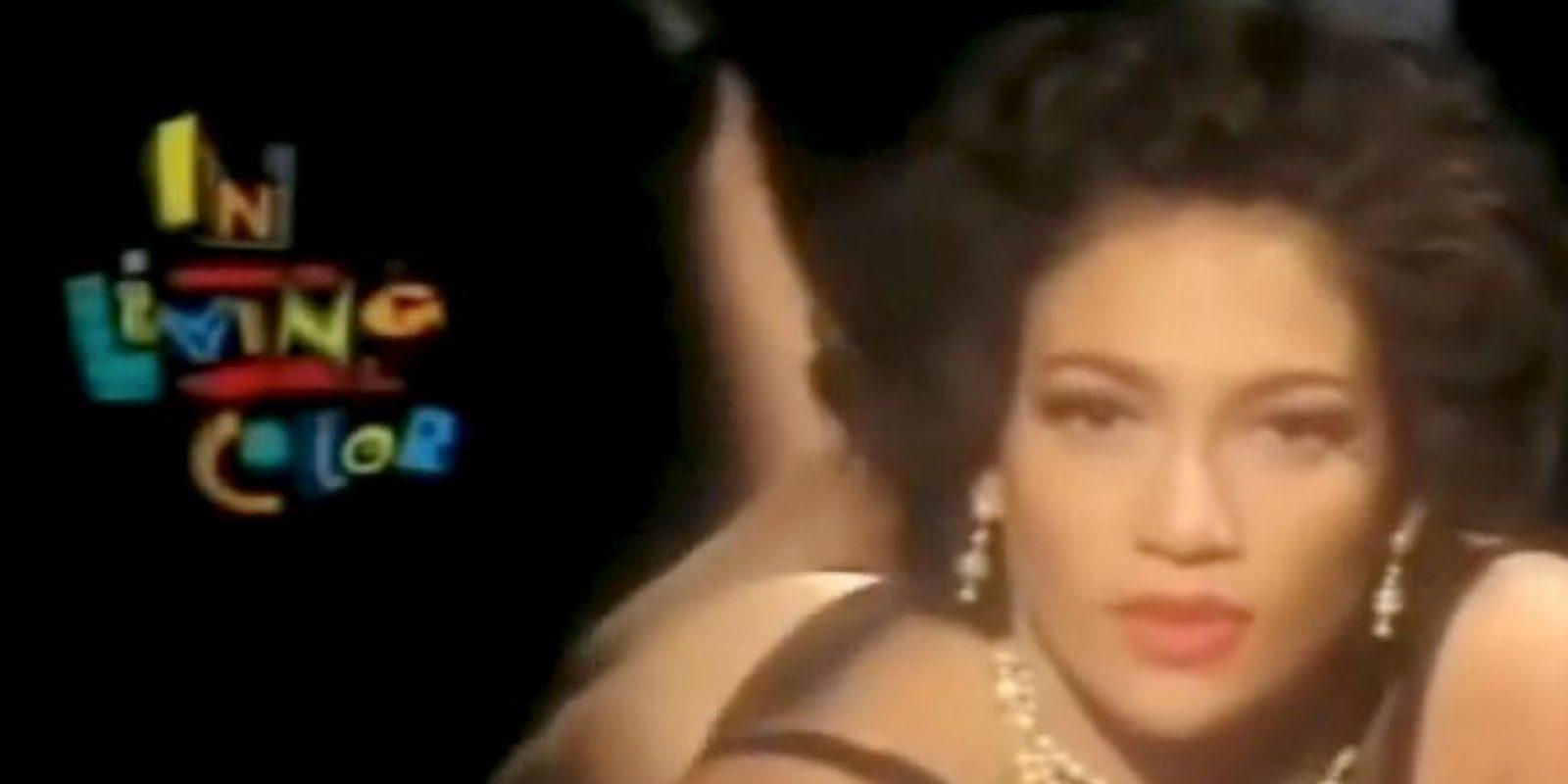 """Meses más tarde se convirtió en una bailarina """"Fly Girl"""" del show de comedia """"In Living Color"""". Foto:vía YouTube"""