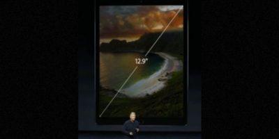 Tiene una pantalla de 12.9 pulgadas; la tableta más grande jamás creada por Apple. Foto:Apple