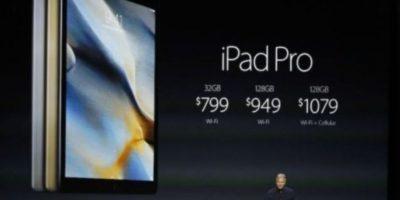 Su precio es de 799 dólares (32GB + Wi-Fi), 949 dólares (128GB + Wi-Fi) y 1,079 dólares (128GB + W-iFi). Foto:Apple