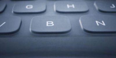 Este es el teclado inteligente. Foto:Apple