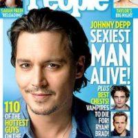 """Johnny Depp en 2009 fue nombrado por segunda vez """"el hombre más sexy del mundo"""". Foto:Revista """"People"""""""