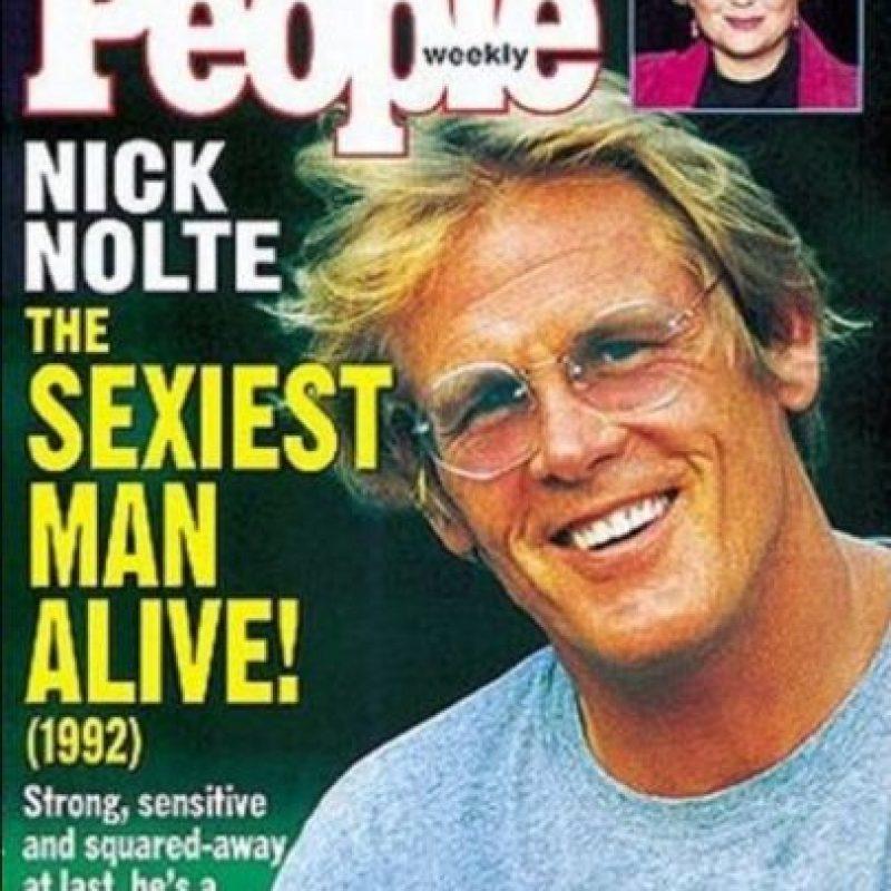 """Nick Nolte en 1992 Foto:Revista """"People"""""""